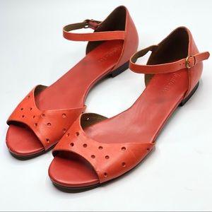 {Madewell} Leather Abbi Slingback Flat Sandals